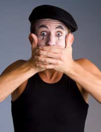 Sign Language Mime Artist Performer
